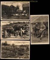 dt. Reich 4 Wohlfahrtskarten der Ostpreussenhilfe Zensur Bentheim 1917 (31715)