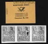 DDR Markenheftchen Mi # 3 a 1 postfrisch mit Plattenfehler auf H.-Bl. 7 (31797)