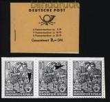 DDR Markenheftchen Mi # 3 a 1 postfrisch mit Plattenfehler auf H.-Bl. 8 (31798)