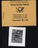 DDR Markenheftchen Mi # 3 b 2 postfrisch mit Plattenfehler auf H.-Bl. 8 (31800)