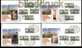 Berlin ATM 1987 Mi # 1 Versandstellensatz 1 komplett auf 4 FDC Ersttagsbriefen (31858)
