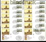 Berlin ATM 1987 Mi # 1 Versandstellensatz 1 komplett auf 14 FDC Ersttagsbriefen (31858)