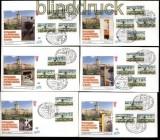 Berlin ATM 1987 Mi # 1 Versandstellensatz 1 und 2 komplett auf 6 FDC Ersttagsbriefen (31861)