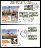 Berlin ATM 1987 Mi # 1 Versandstellensatz 2 komplett auf 2 FDC Ersttagsbriefen (31862)
