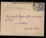 dt. Reich Mi # 42 Auslandsbrief Klauckestempel Mühlhausen 2.8.1884 (31876)