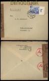 dt. Reich Mi # 742 EF auf Auslands-Zensurbrief Reutlingen 1940 (31892)