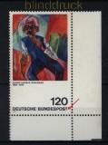 Bund Mi #  823 I postfrisch Kirchner mit Plattenfehler verkürztes T (32458)