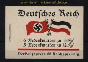 dt. Reich Markenheftchen Mi # 32.3 postfrisch Fridericus 1933 (32203)