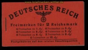 dt. Reich Markenheftchen Mi # 49.2 Hitler postfrisch (32207)