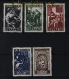 Saarland Mi # 267/71 postfrisch Volkshilfe 1947 (32246)