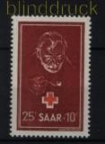 Saarland Mi # 292 postfrisch Rotes Kreuz 1950 (32249)