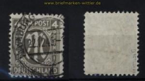 BI-Zone AM-Post Mit # 18 D gestempelt geprüft Hettler BPP (32396)