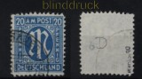 Bi-Zone AM-Post Mit # 26 b D gestempelt geprüft Hettler BPP (32399)