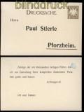 Bayern Privat-GSK PP 11/B14  Stierle Pforzheim ungebraucht (32147)