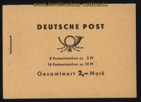 DDR Markenheftchen Mi # 4 c 3.1 postfrisch BZN oben (32124)