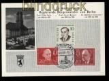 Berlin Erinnerungskarte Regierende Bürgermeister von Berlin 1960 (32288)