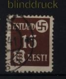 dt. Besetzung 2. WK Estland Mi # 1 gestempelt (32309)