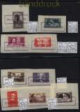 Frankreich ex Mi # 414/472 mit Notstempel Strassburg auf Briefstück (32340)