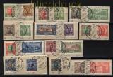 Island ex Mi # 83/121 17 gestempelte Werte auf Briefstücke  (32355)