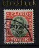 Island Mi # 147 gestempelt Zeppelin (32359)