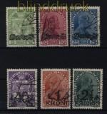 Liechtenstein Mi #  11/16 Aufdrucksatz gestempelt (32366)