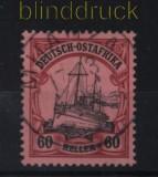 Deutsch-Ostafrika Mi # 29 gestempelt 60 Heller Schiffszeichnung (32637)