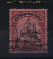 Deutsch-Ostafrika Mi # 37 gestempelt 60 Heller Schiffszeichnung (32638)