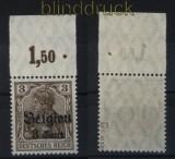 dt. Besetzung 1. WK Landespost Belgien Mi # 11 a III OR Platte postfrisch geprüft Hey BPP (32643)