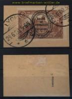 Abstimmungsgebiete Allenstein Mi # 26 c gestempelt auf Briefstück geprüft Hochstädter  (32712)