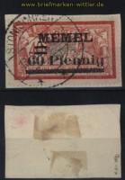 Memelgebiet Mi # 36 b gestempelt auf Briefstück geprüft Klein BPP (32726)