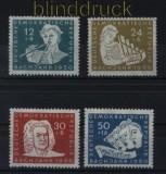 DDR Mi #  256/59 postfrisch Johann Sebastian Bach (32926)