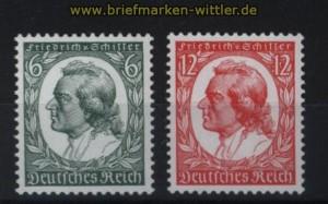 dt. Reich Mi # 554/55 postfrisch Friedrich von Schiller (33045)