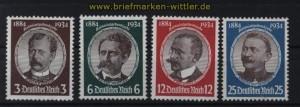 dt. Reich Mi # 540/43 postfrisch Kolonialforscher (33044)