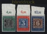 Bund Mi #  113/15 postfrisch 100 Jahre Deutsche Briefmarken (32942)