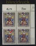 Bund Mi #  655 I postfrisch Weihnachten 1970 Plattenfehler schwarzer Fleck am Hals (32953)