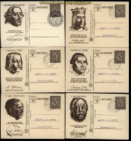 dt. Reich GSK Mi # P 286 komplette Serie von 6 Karten 5 x Tagesstempel (33001)