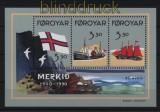 Faröer Mi # Block 4 postfrisch Flagge der Faröer-Inseln (33053)