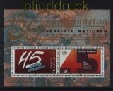 UNO Wien Mi # Block 5 postfrisch 45 Jahre UNO (33098)