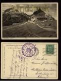 Adolf-Zoeppritz-Haus am Kreuzeck sw-AK mit Blick auf das Zugspitzmassiv 1926 (d5587)