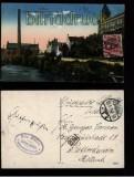 Cottbus farb-AK Elektrisches Werk, Amts- und Landgericht 1920 (d5601)
