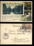 Bad L. Schwalbach farb-Präge-AK Parkpartie 1906 (d5624)