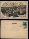 Buchholz in Sachsen sw-AK Totalansicht 1902 (d5736)
