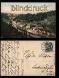Bartmühle im Elstertah farb-AK Gruss aus der Vogtl. Schweiz 1908 (d5739)