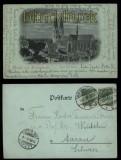 Halberstadt sw-Litho-AK Gruss aus .... Dom von Süden 1898 (d5744)