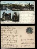 5Salzungen farb-AK 4 Ansichten 1912 (d5784)