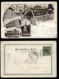 Teplitz sw-Litho-AK 5 Ansichten 1899 (d5786)