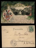 Strassburg farb-Präge-AK Broglieplatz 1903 (d5788)