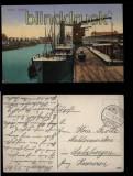 Stettin farb-AK Freihafen Feldpost 1915 (d5812)