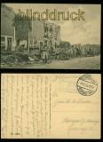 Billy sw-AK Strassenansicht Feldpost 1915 (a1052)