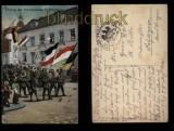 Przemusl farb-AK Einzug der Verbündeten Feldpost 1915 (a1037)
